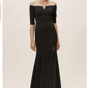 BHLDN Emile Off the shoulder black dress / gown
